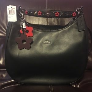 Coach Harley Hobo with Floral Appliqué strap